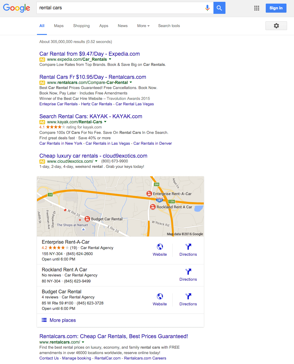 Google Rent: Google Confirms Removing Right Side Ads & Placing Four Ads