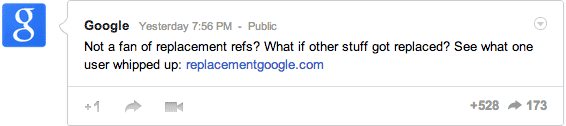 Replacement Google