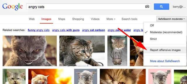 Report Offensive Images In Google
