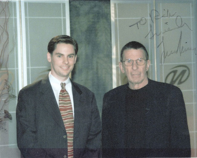 Google's Rick Klau With Star Trek's Leonard Nimoy