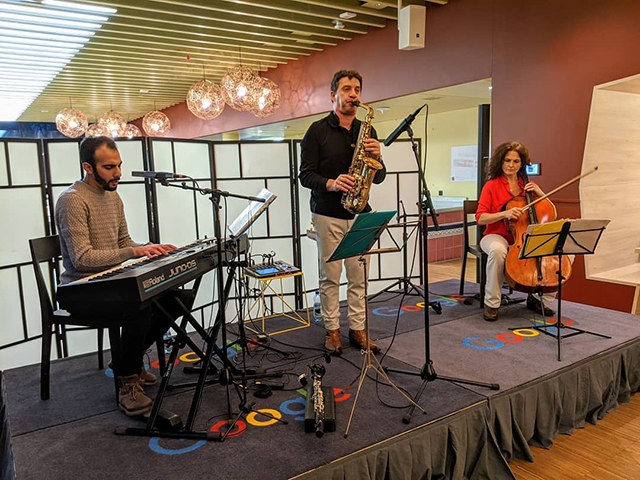 Playing The Sax At Google Zurich