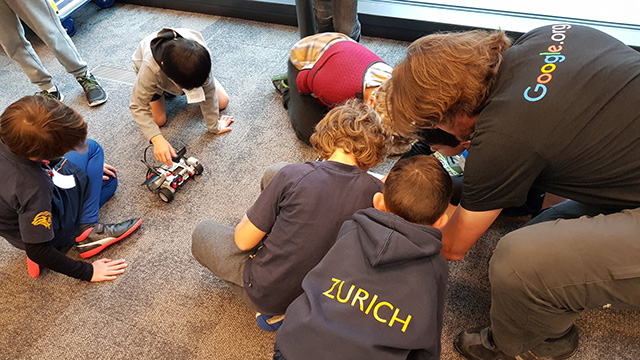 Robot Building Children At Google Zurich