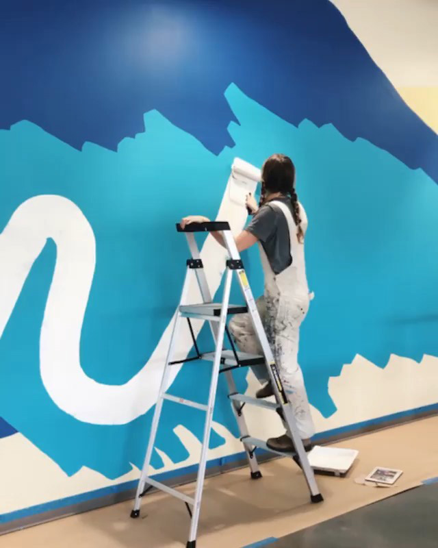 Rolling A Mural At The GooglePlex