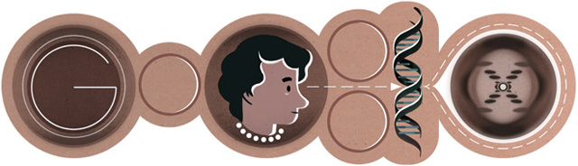 Rosalind Franklin Google Doodle - X-Ray