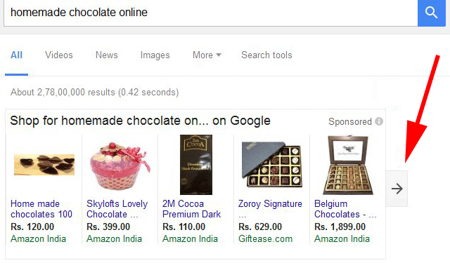 Google AdWords Testing Scrollable Product Listing Ads