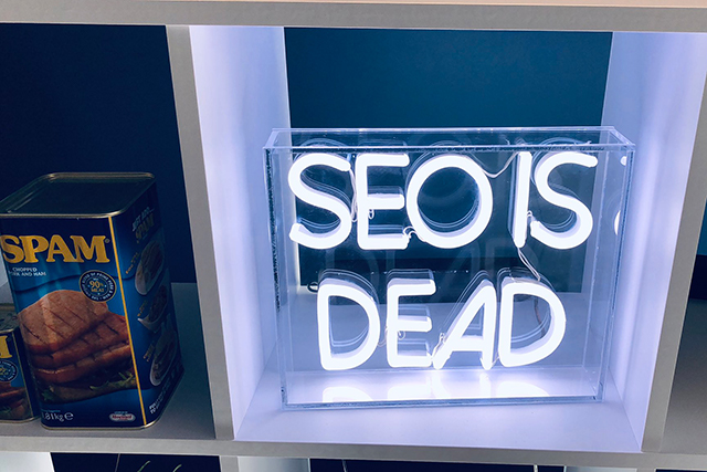 SEO Is Dead Sign