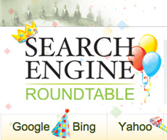 Search Engine Roundtable 8 Years Logo