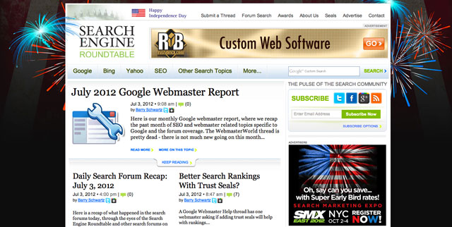 Search Engine Roundtable July 4th
