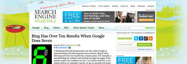 Labor Day Search Engine Roundtable