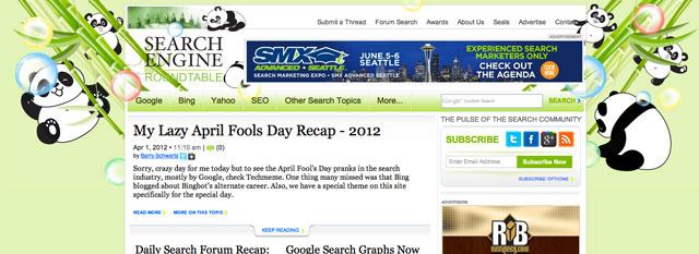 sER April Fools