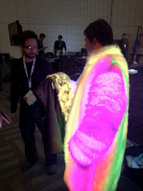 Brin With Neon Fur Man