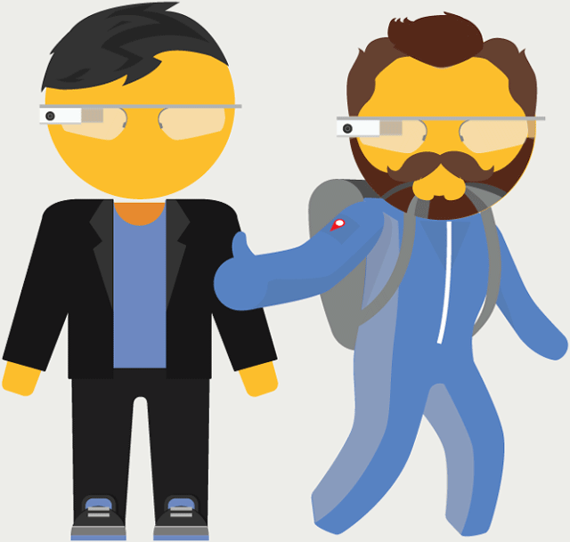 Sergey Brin & Larry Page As Google Maps Pegmen