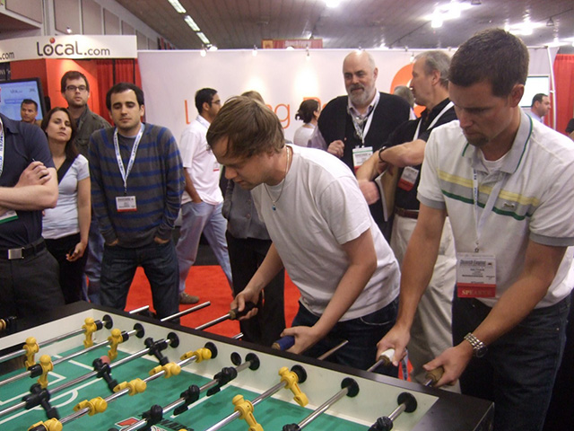 Yahoo vs Google Foosball From 2008 SES Conference