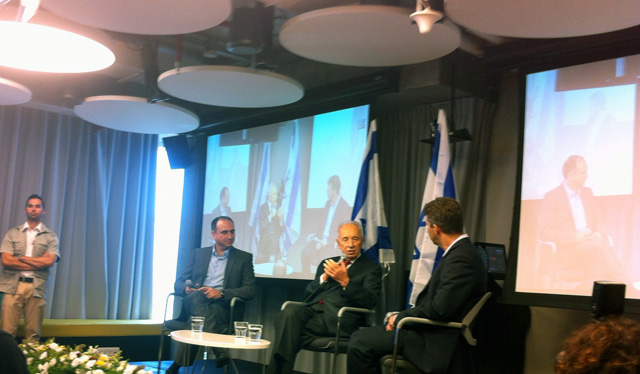 google office israel. Shimon Peres Speaking At Google Israel Office