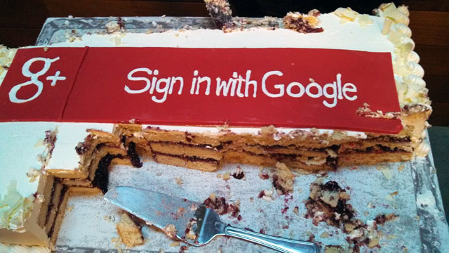 Sign In With Google+ Cake