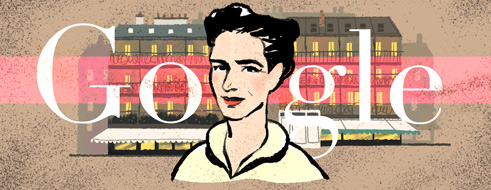 Simone de Beauvoir Google Logo