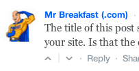 site name comment
