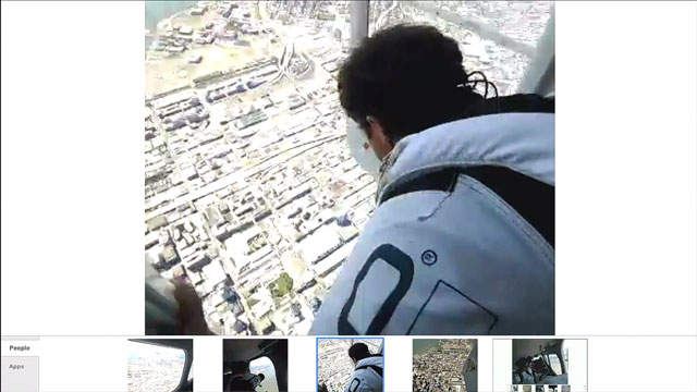 Google Glass Live Skydiving