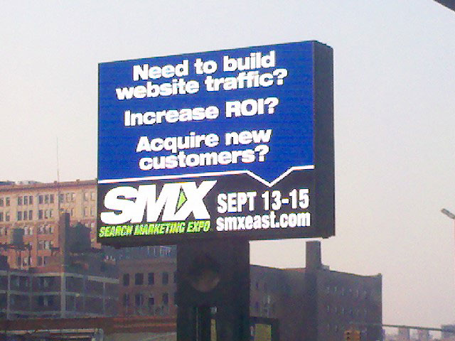 SMX East Javits Center Billboard