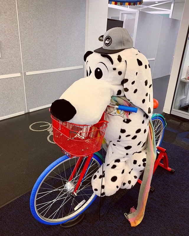 Snoopy On Google Bike In NYC
