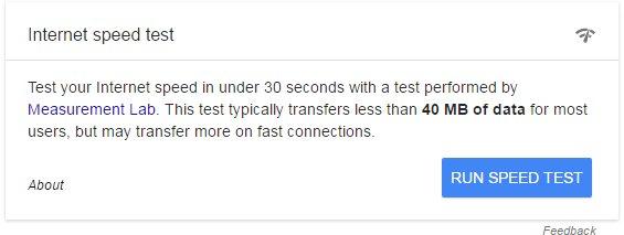 Google Speed Test Tool