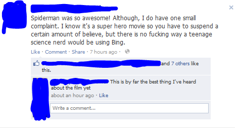 Spiderman Using Bing