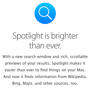 spotlight apple bing