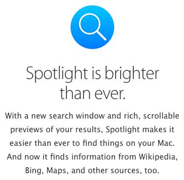 spotlight apple bing