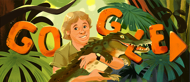 Steve Irwin Gets Global Google Doodle On His 57th Birthday