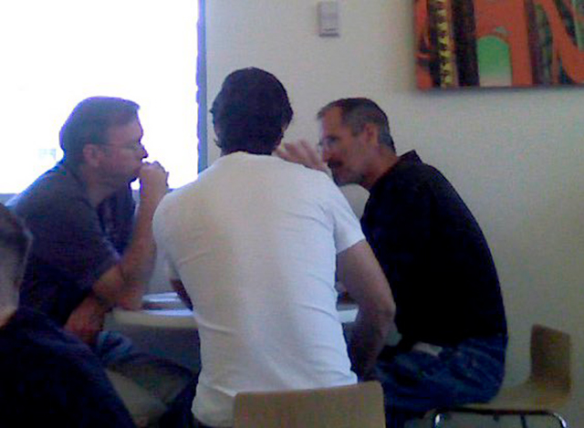 Steve Jobs Lunch At Google With Larry Page & Eric Schmidt In 2007