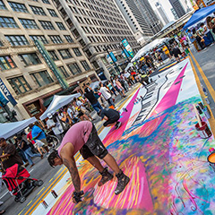 Street Mural Painting Near The Google Chicago Office