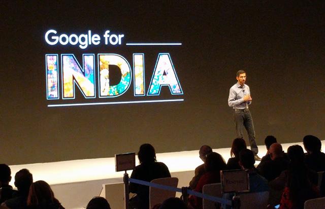 Google's CEO, Sundar Pichai, In India