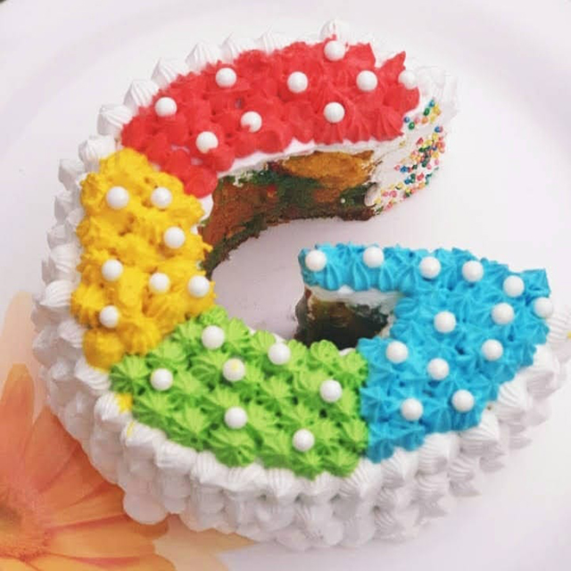 Super G Logo Google Cake