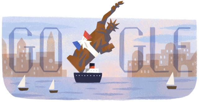 Google Statue Of Liberty Doodle - click for full size
