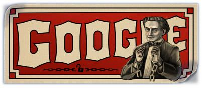 Harry Houdini 137th Birthday Google Doodle