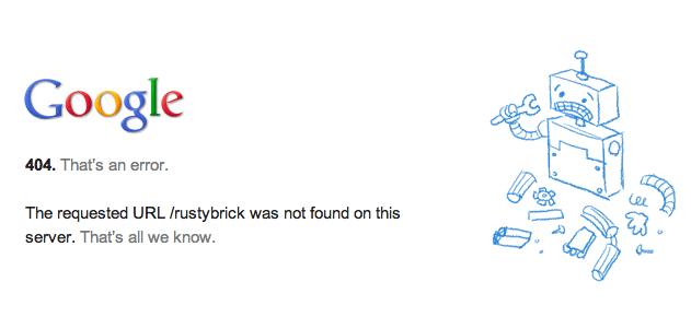 Google Custom 404 page