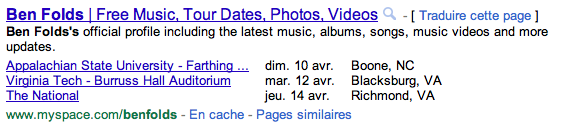 Google Rich Snippet Date Language