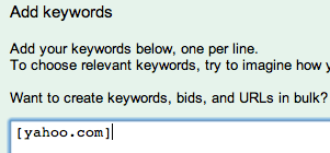 AdWords URL bidding