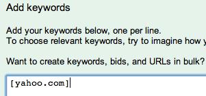 AdWords URL bidding