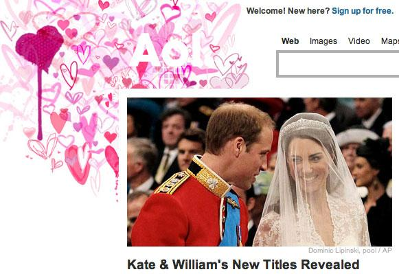 AOL Royal Wedding Logo