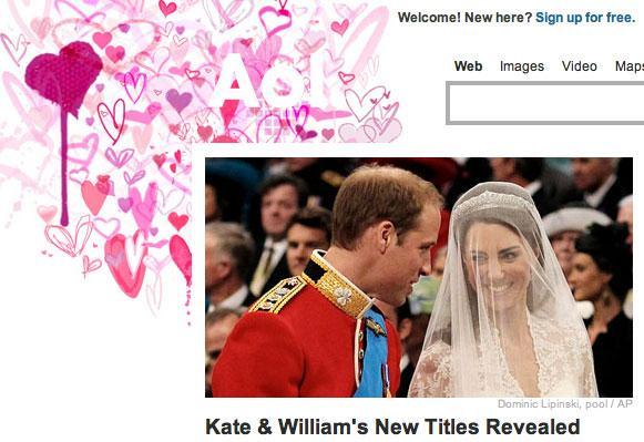 AOL Royal Wedding Logo