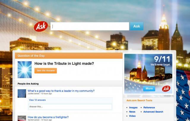 Ask.com 9/11 2011
