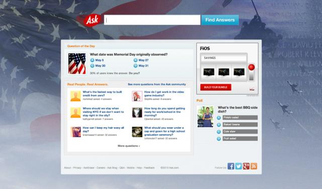 Ask.com Memorial Day - click for full size
