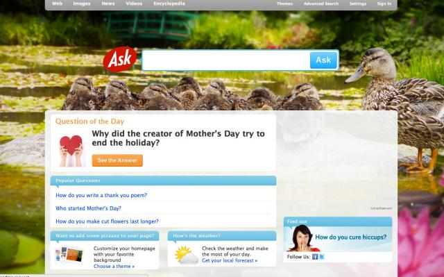 Ask.com's Mother Day Theme
