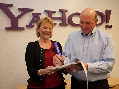 Yahoo Carol Bartz & Microsoft Steve Balmer