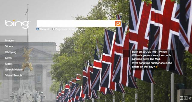 Bing UK's Royal Wedding Logo