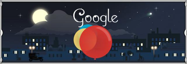 Claude Debussy Google Logo - click for full size