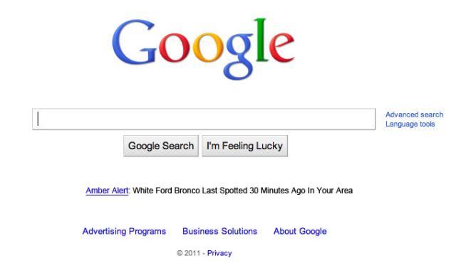 Google Amber Alert