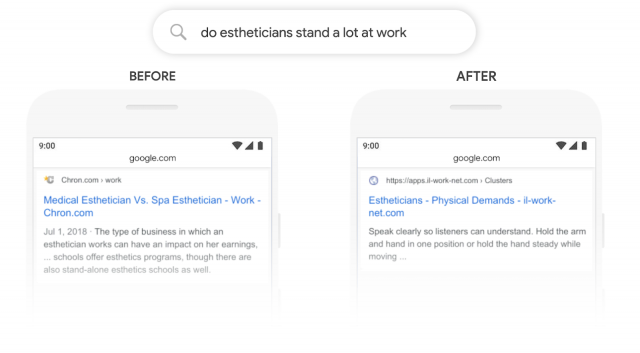 Google BERT algorithm exemple SEO