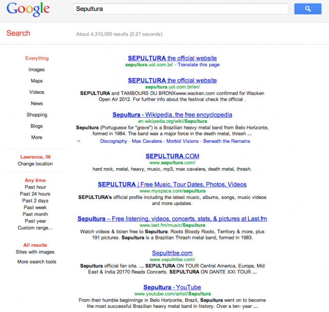 Google Centered Results - click for full size